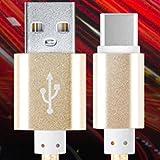 USB TYPE-C メタル ケーブル 1m 2m 3m 断線に強く 2.4A 急速 充電 Xperia XZ1 SO-01K SOV36 Compact SO-02K XZS SO-03J SOV35 602SO Xperia XZ SO-01J SOV34 601SO Xperia X Compact SO-02J galaxy NOTE8 SC-01K SCV37 S8 SC-02J SCV36 S8+ SC-03J SCV35 XZ Premium SO-04J au docomo softbank TYPE C タイプC タイプ typec USBケーブル ケース Nintendo Switch ニンテンドースイッチ 充電 充電ケーブル 充電器 アダプタ ZenFone 3 HUAWEI P9 honor8 Nexus 6P 5X (2m, ゴールド)