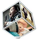 Amazon.co.jp【 立体式フォトスタンド 】 電動 回転 3D 立体フォト フレーム スタンド ライフ キューブ 写真 アルバム 子供 思い出 SD-LIFOTHO