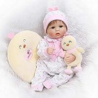 着用鳥服Rebornベビー人形ガール17インチシリコンLooks Real新生児赤ちゃん人形forキッズ誕生日クリスマスギフトおもちゃ