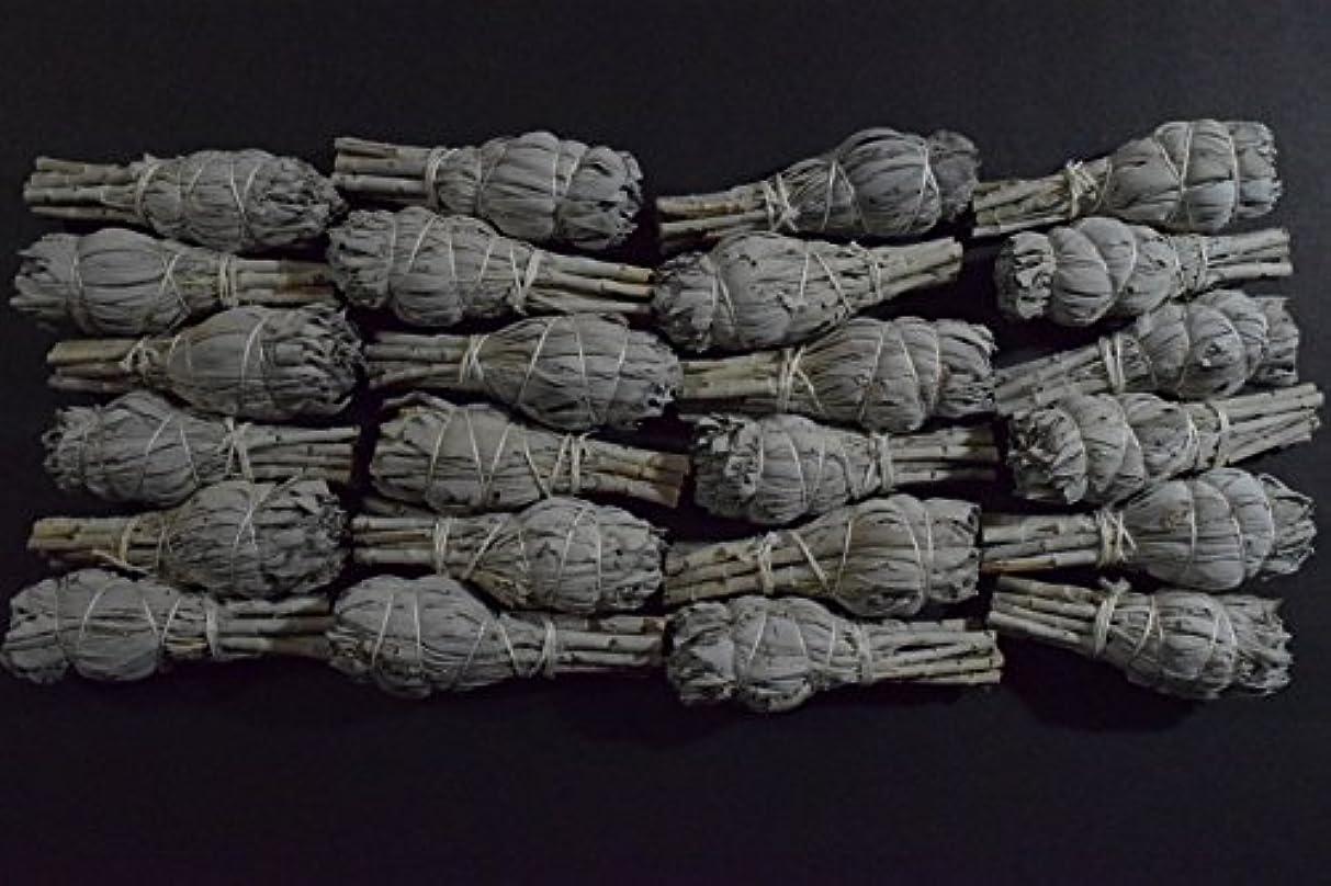 サーマル兵隊母ホワイトセージミニボール(24パック) SmudgeクレンジングNegativity Removal