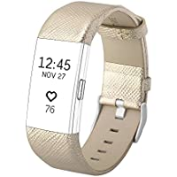 SnowCindaレザー交換用バンドfor Fitbit Charge 2