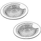 Z-Liant 洗面器排水口用 洗面器ゴミ受 洗面台 パンチング ゴミ受け ステンレス鋼2個組