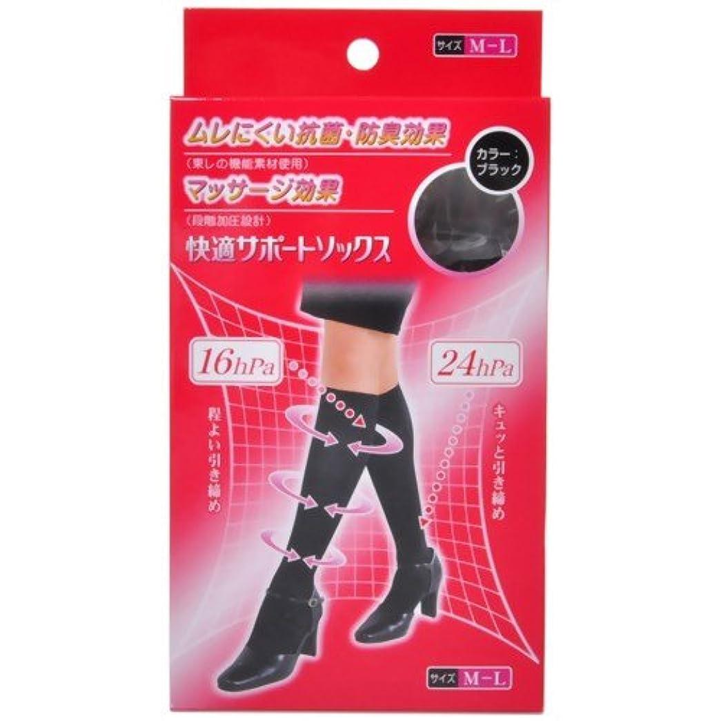 デザイナーエミュレーション傾斜ピバンナー 快適サポートソックス(男女兼用) ブラック M-L