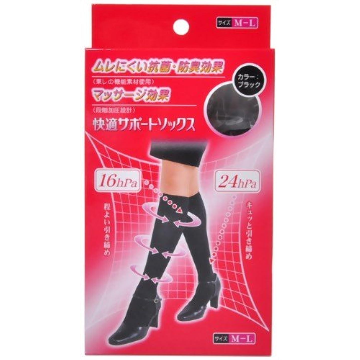 アラスカメダリストセントピバンナー 快適サポートソックス(男女兼用) ブラック M-L