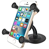 RAM Lil Buddy Adhesive Stick Base Mount with Universal X-Grip Cell Phone Holder