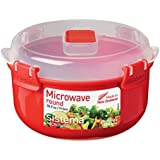 Sistema Microwave  915ml Round Bowl, Red