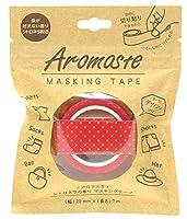 ノルコーポレーション マスキングテープ 香り付き シトロネラの香り AOZ-1-04 レッドドット