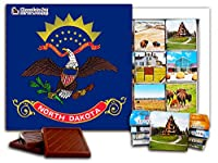 "DA CHOCOLATE キャンディ スーベニア ""ノースダコタ州"" NORTH DAKOTA チョコレートセット 5×5一箱 (Flag)"