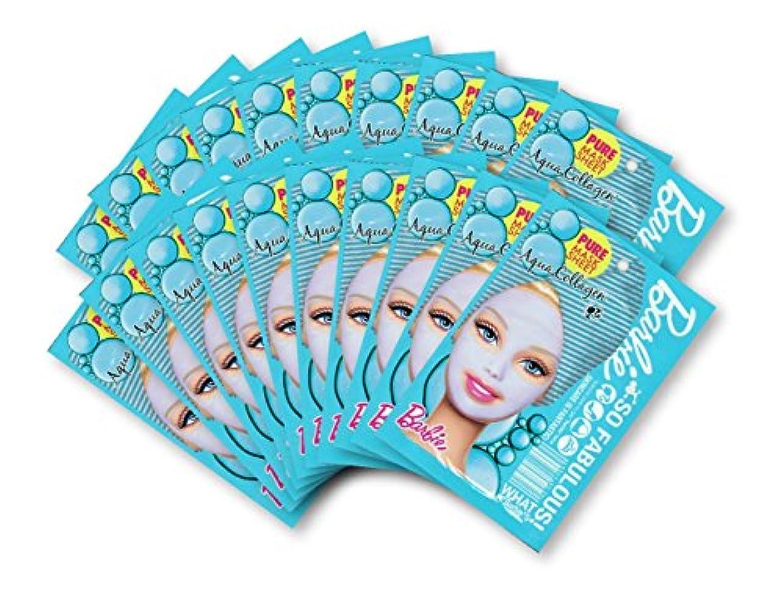 快適個人時系列バービー (Barbie) フェイスマスク ピュアマスクシートN (コラーゲン) 25ml×20枚入り [弾力] 顔 シートマスク フェイスパック