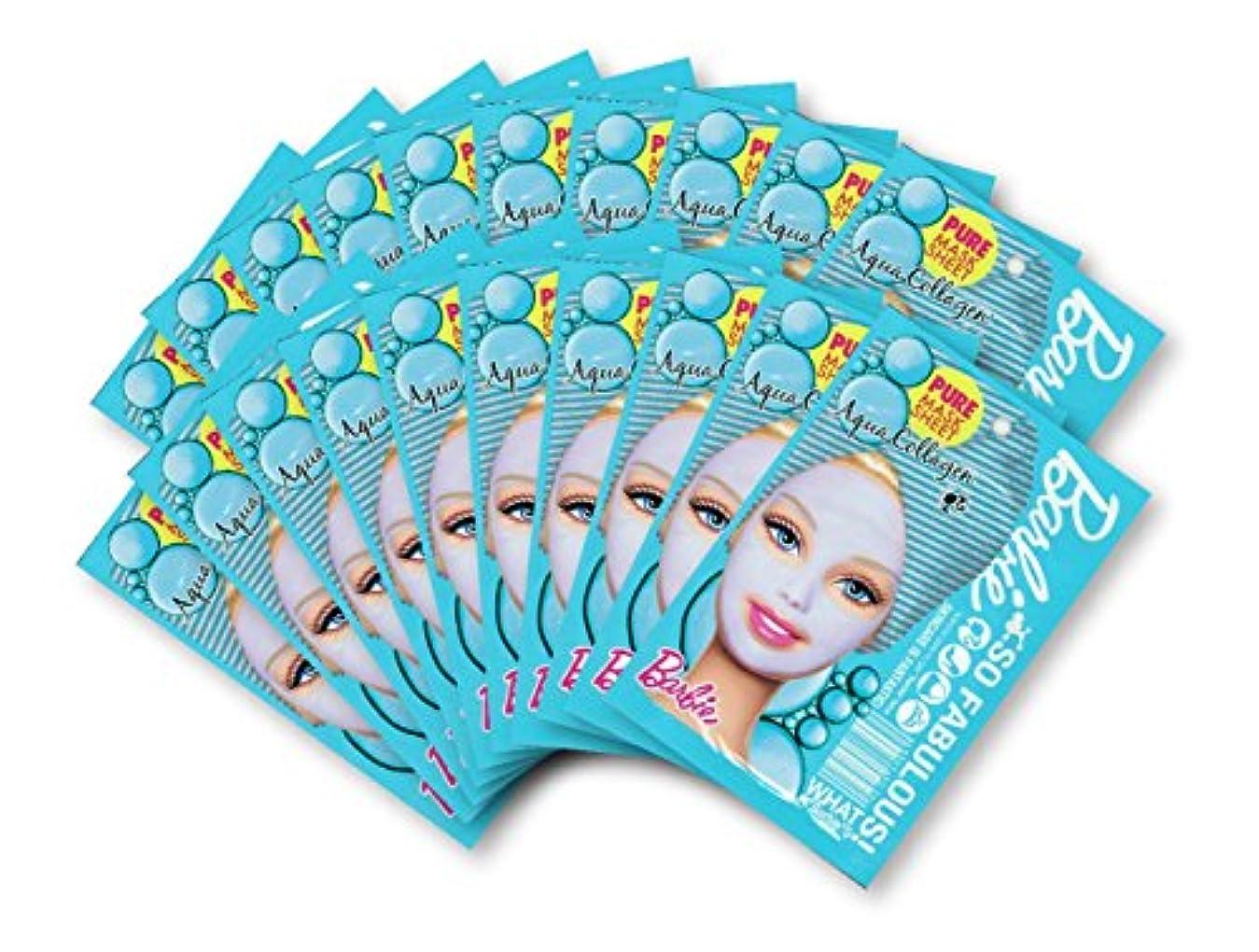 食料品店出席するトラックバービー (Barbie) フェイスマスク ピュアマスクシートN (コラーゲン) 25ml×20枚入り [弾力] 顔 シートマスク フェイスパック