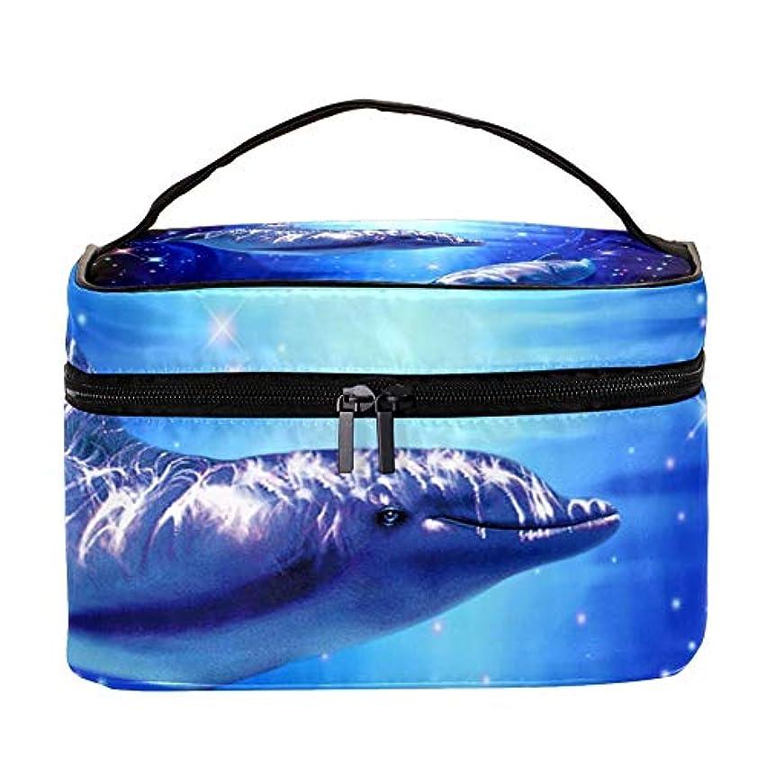 子羊鎮痛剤好きであるAyuStyle バニティポーチ トラベルバッグ イルカ 海豚 化粧ポーチ メイクポーチ コスメバッグ 化粧道具 大容量 機能的 小物入れ おしゃれ かわいい 収納ケース