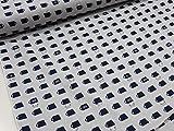 カップねこ グレー オックス生地|布地|綿|コットン|