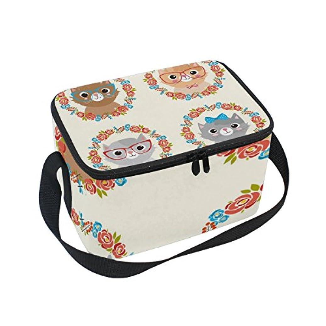 ライオン音節パドルクーラーバッグ クーラーボックス ソフトクーラ 冷蔵ボックス キャンプ用品  ネコ柄 かわいい 保冷保温 大容量 肩掛け お花見 アウトドア