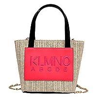 TOOGOO 夏のファッション新品ストロー女性のバッグトレンドシングルショルダースリングポータブルスモールバッグ蛍光ピンク