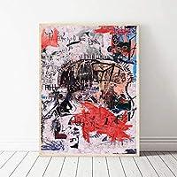 木枠貼り付け加工済み 海外限定 ジャン=ミシェル・バスキア Jean-Michel Basquiat 大型サイズあり キャンバス ポスター 美術品 絵画 (30×45cm)