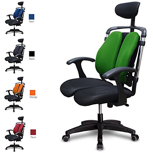 ハラチェア HARA CHAIR ニーチェK オフィスチェア ワーキングチェア ハラチェアー 腰痛軽減 事務椅子 (グリーン)
