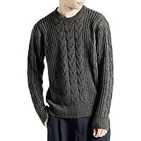 (モノマート) MONO-MART オーバーサイズ アラン編み クルーネック ケーブル ニット セーター メンズ