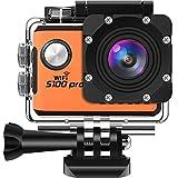 SOOCOO アクションカメラ 4K 超高画質 2000万画素 手ぶれ補正 2インチタッチパネル 30m防水 wifi搭載 リモコン付き 音声コントロール GPS 170度広角 HDMI出力 S100PRO ウェアラブルカメラ オレンジ