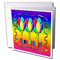 バースデーデザイン–Happy誕生日からのすべての米国、バルーンStreamer–グリーティングカード Set of 6 Greeting Cards