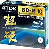 TDK データ用ブルーレイディスク 超硬シリーズ BD-R DL 50GB 1-4倍速 ホワイトワイドプリンタブル 10枚パック 5mmスリムケース BRD50HCPWB10A