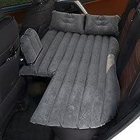 車のエアベッド、GZD SUV多機能インフレータブルカーマットレス後部座席クッションモーターポンプと子供と老人のための2つの枕、屋外エアーソファ78 * 135センチメートル,Black