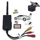 origin WIFI バックカメラ セット iPhone など スマホ 、 タブレット 対応 防水仕様 広角 映像ケーブル 付き 有線 / 無線 両方 対応 WBK903-B021
