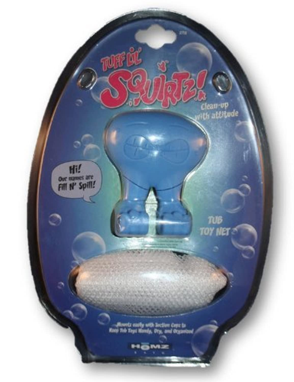 Tuff Lil' Squirts Fill N' Spill Bathtub Toy Net by HOMZ [並行輸入品]
