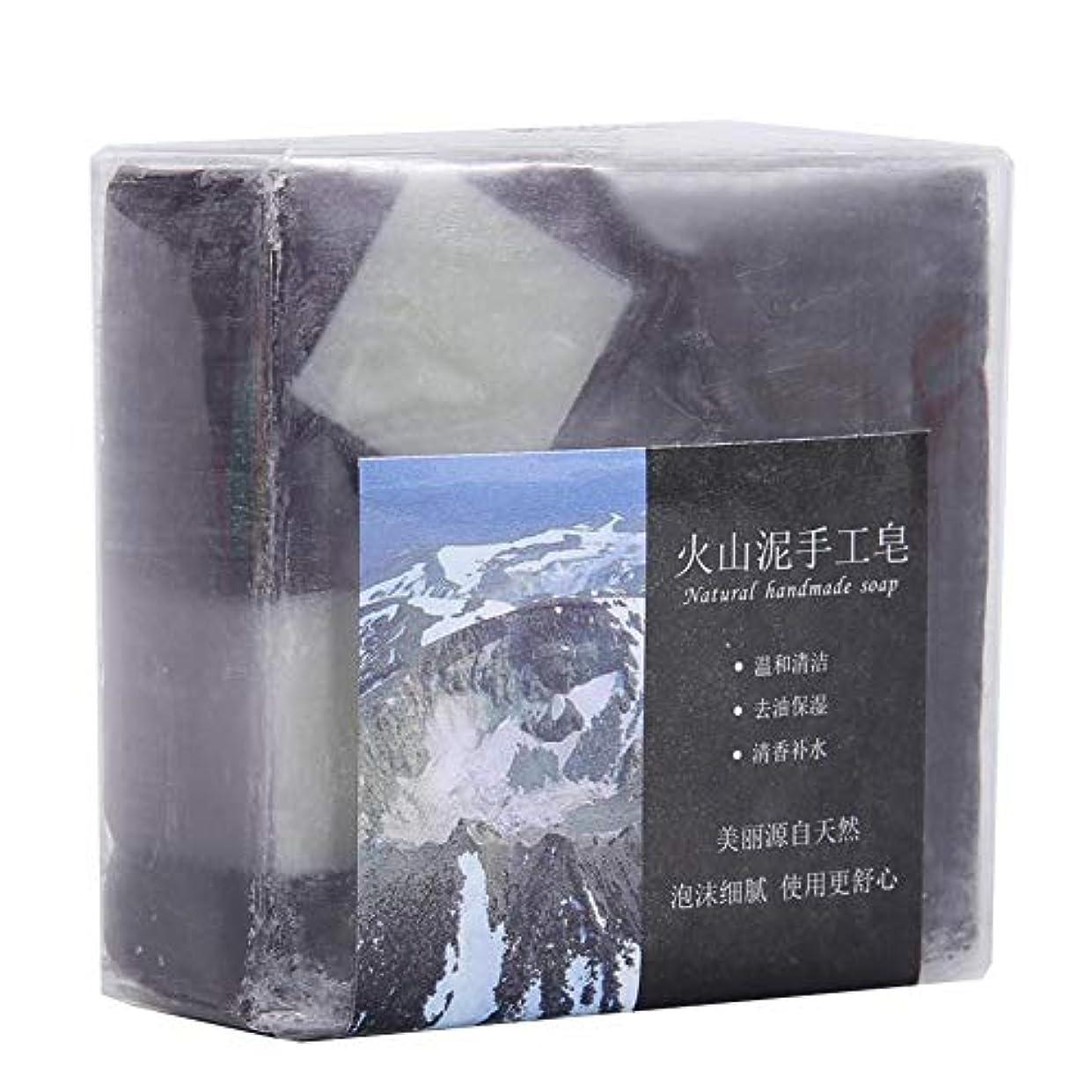 フィードオン説得力のある使用法ディープクリーニング 火山泥 ハンドメイドグリース 保湿石鹸用 100 G 手作り石鹸