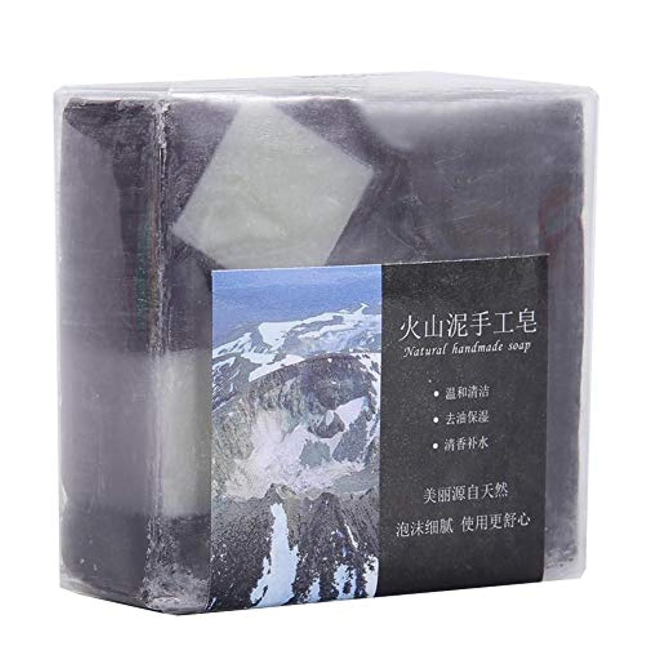調停する特性リンケージディープクリーニング 火山泥 ハンドメイドグリース 保湿石鹸用 100 G 手作り石鹸