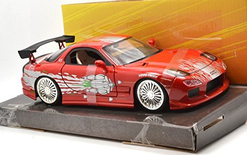 "Jada TOYS 1:24 SCALE ""THE FAST AND THE FURIOUS"" ""DOM'S MAZDA RX-7"" ジェイダトイズ 1:24スケール「ワイルドスピード」「ドムズ マツダ RX-7 FD」 [並行輸入品]"