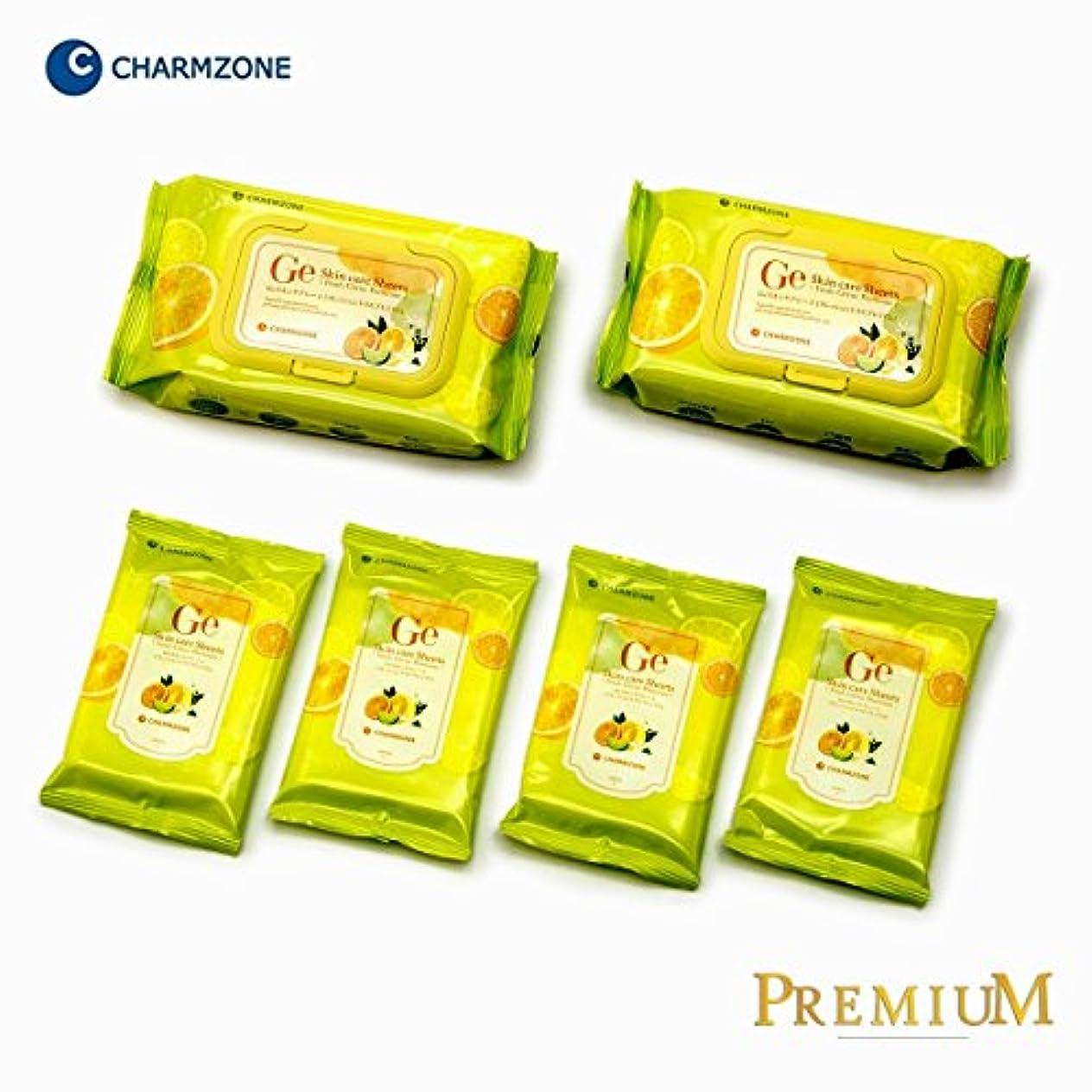 チャームゾーン Geスキンケアシート 160枚入(60枚×2個 10枚×4個)フレッシュシトラス プレミアム
