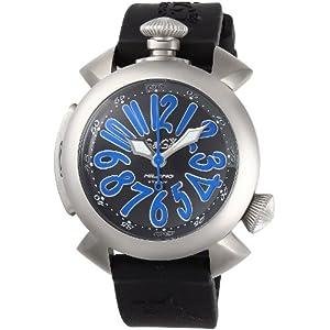 [ガガミラノ]GAGA MILANO 腕時計 DIVING48MM ブラック文字盤 ラバーベルト 自動巻 300M防水 5040.4-BLKRUBBER メンズ 【並行輸入品】