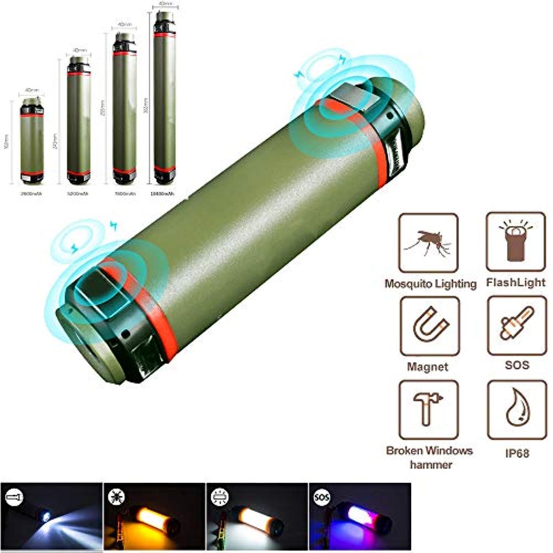 結果うめき私ポータブルキャンプ用ランタン、アウトドア懐中電灯充電式USBキャンプライト、力銀行を使って、防水IPX8SOS緊急および害虫忌避用ランタンハイキング用
