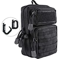 LefRight Tactical Army Military Backpack Cargo Pack Style Utility Molle Pouch Waist Bag for Outdoor Patio Work Motorcycle Side