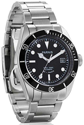 パーニス 腕時計 自動巻き 日本製ムーブメント(MIYOTA) 3Colors PA6050-S3AS-BK [並行輸入品]