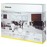 mouse スマートホーム(IoT製品)スターターキット5点セット スマホで家電をコントロール(ルームハブ/モーションセンサー/スマートプラグ/スマートLEDライト/ドアセンサー) SK01