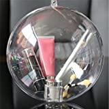 Harleya 10pcs DIYクリスマスボールShatterproofボールOrnaments 8cm クリア TM