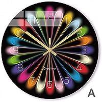 シンプルな装飾的な壁時計レインボークォーツ壁時計創造的なカラフルなモダンな幻想的な抽象的なスタイルのスタイルの壁時計装飾用