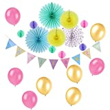 Easy Joy  ベビーシャワー飾り 100日お祝い ハーフバースデー 男の子/女の子 誕生日ガーランド 飾り付け パーティー装飾 インテリア 写真背景