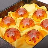 LULAA ドラゴンボール 龍球 神竜召喚 おもちゃ 置き物 7点セット コスプレ用小物 七星球 BOX入り プレゼント (オレンジ)