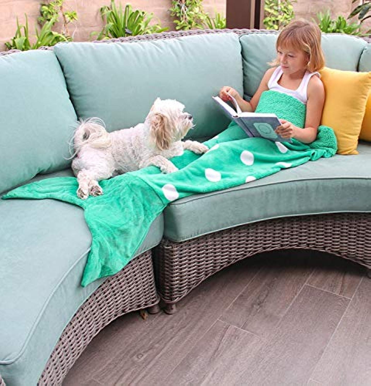 [ハートトゥハート]Heart to Heart Mermaid Tail Blanket for Teen and Kids, Made with Soft Boa Material, Comfortable for [並行輸入品]