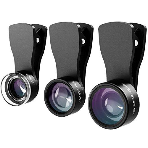 Qtop カメラレンズキット クリップ付きレンズ 3点セット