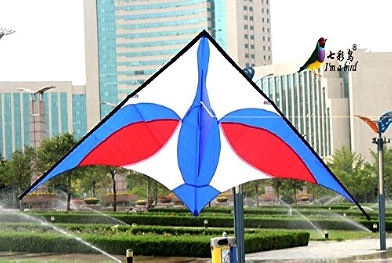 2.5M 新しい電源ブルースワン三角形の凧の屋外の楽しみのスポーツ簡単に大きいギフトを飛ぶ STI#b4err4gr4145e 101267