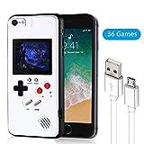 レトロゲーム付きのスマホケース,携帯 カバー 多機能 iPhone 6/6s/7/8/Plus/11/11Pro/X/Xs/Xr/Xsmax ケース (白-iPhone 6/6s/7/8)