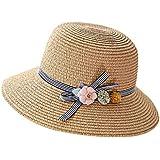 漁師帽 夏 帽子 レディース UVカット 帽子 ハット レディース 紫外線対策 日焼け防止 つば広 日焼け 旅行用 日よけ 夏季 折りたたみ 森ガール ビーチ 海辺 帽子 ハット レディース 花 ROSE ROMAN