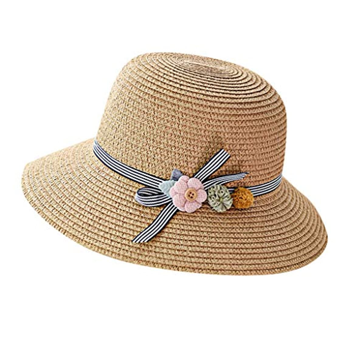 出身地禁じるやりすぎ漁師帽 夏 帽子 レディース UVカット 帽子 ハット レディース 紫外線対策 日焼け防止 つば広 日焼け 旅行用 日よけ 夏季 折りたたみ 森ガール ビーチ 海辺 帽子 ハット レディース 花 ROSE ROMAN