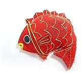 正月飾り◆ちりめん細工 半立体 鯛(1個)