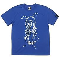 バニー Tシャツ (ロイヤルブルー) bg021tee-rb -G- イラスト うさみみ 女の子 青色 半袖