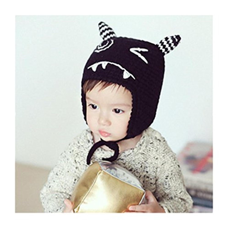 efasterベビーキッドBoy Girlニットかぎ針編み猫耳ビーニー冬暖かい帽子キャップ
