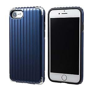 "GRAMAS COLORS ""Rib 2"" Hybrid Case for iPhone 8/7/8 Plus/7 Plus (iPhone 8/7, Navy)"
